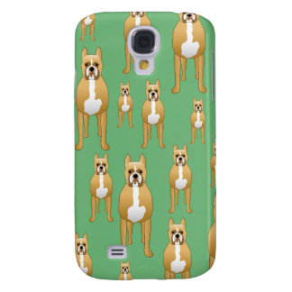 Dogs Pern, Boxers on Green. Samsung S4 Case