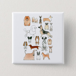 Dogs Pinback Button