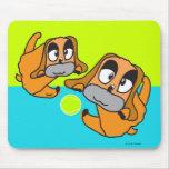 Dogs Play Tennis Ball Mousepad