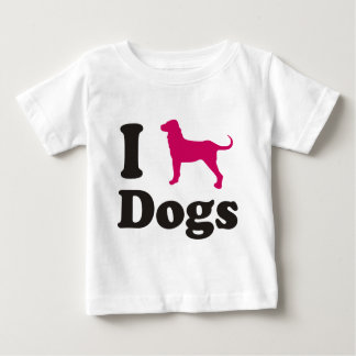 dogs playera de bebé