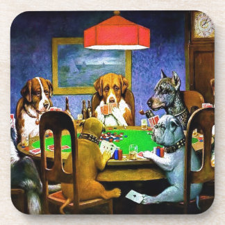 Dogs Playing a Game of Poker Coaster
