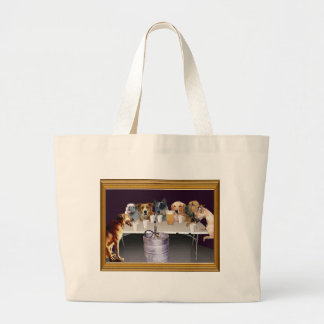 Dogs Playing   Tote Bag