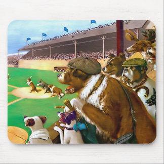 Dogs Playing Baseball Mouse Pad