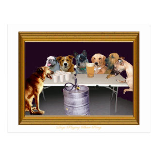 Dogs Playing Beer Pong Postcards