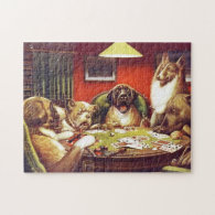 Dogs Playing Cards puzzle