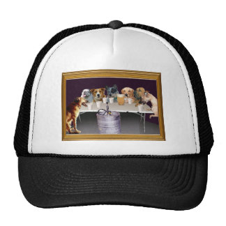 Dogs Playing   Trucker Hats