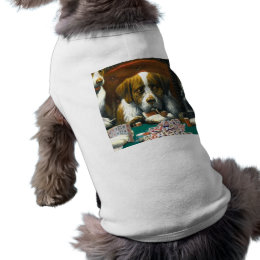 Dogs Playing Mah Jongg Doggie T Tee