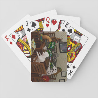 Dogs playing online poker playing cards