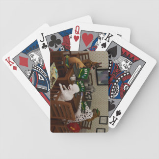 Dogs playing online poker bicycle playing cards