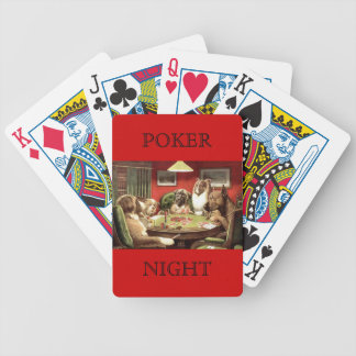 Dogs Playing Poker A Bold Bluff by C. M. Coolidge Poker Deck