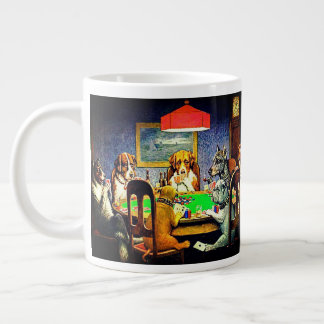 Dogs Playing Poker A Friend In Need Large Coffee Mug