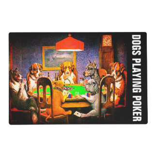 Dogs Playing Poker A Friend In Need Placemat
