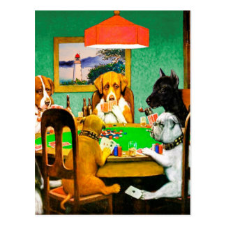 Dogs Playing Poker Card
