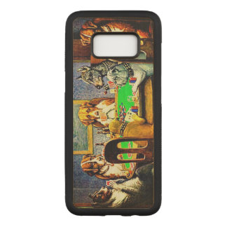 Dogs Playing Poker Carved Samsung Galaxy S8 Case