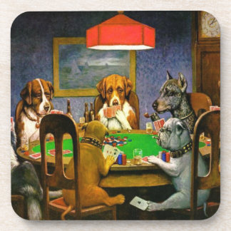 Dogs Playing Poker Drink Coaster
