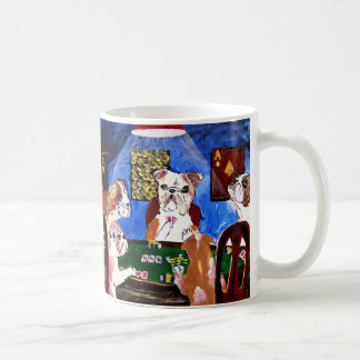 DOGS PLAYING POKER FOR RIGHT HANDERS COFFEE MUG