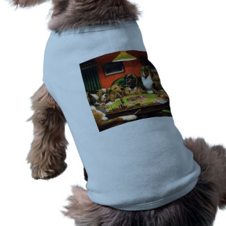 Dogs playing poker - funny dogs -dog art tee