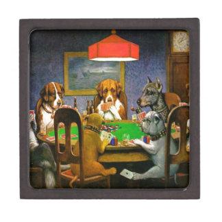 Dogs Playing Poker Gift Box