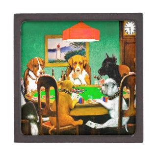 Dogs Playing Poker Jewelry Box