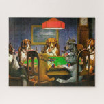 """Dogs Playing Poker Jigsaw Puzzle<br><div class=""""desc"""">Canine dogs playing poker around the table.  frontiernow.com</div>"""