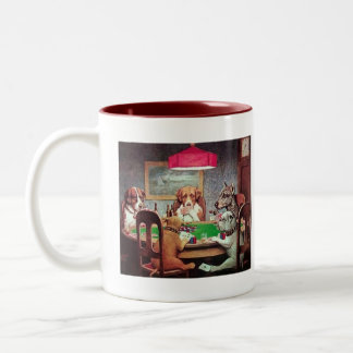 Dogs playing poker Mug