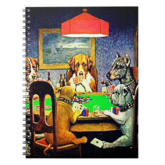 Dogs Playing Poker Notebook