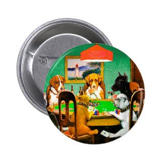 Dogs Playing Poker Pinback Button