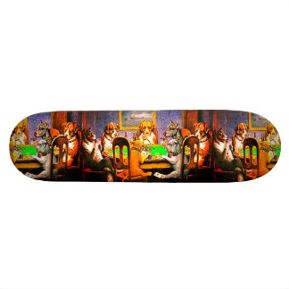 Dogs Playing Poker Skateboard Deck