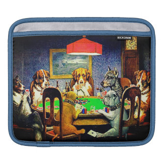 Dogs Playing Poker Sleeve For iPads