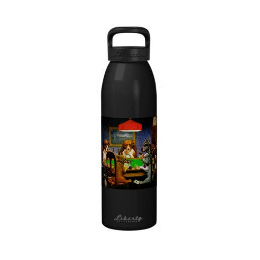 Dogs Playing Poker Water Bottle