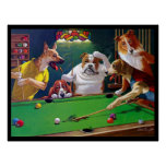 Dogs Playing Pool - Jack the Ripper Posters