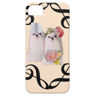 Dogs portrait in the wedding ceremony with music iPhone SE/5/5s case