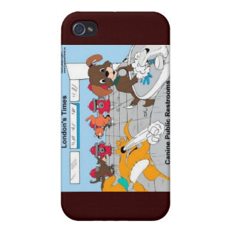 Dogs Public Restrooms Funny Gifts Cards Etc iPhone 4 Cover
