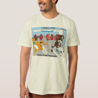 Dogs Public Restrooms Funny Organic Mens Tees