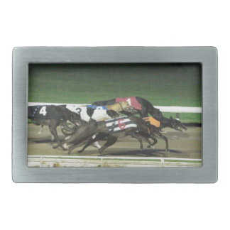 Dogs racing greyhound sporting image belt buckle