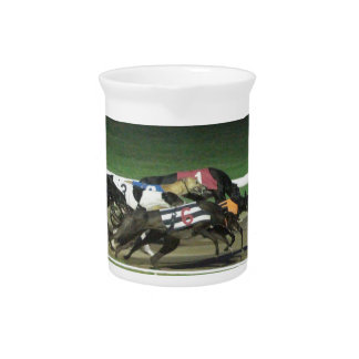 Dogs racing greyhound sporting image pitcher