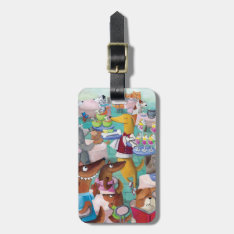Dogs Restaurant Bag Tag at Zazzle