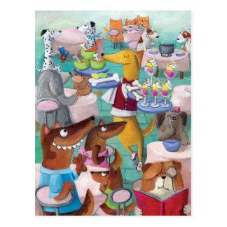 Dogs Restaurant Postcard