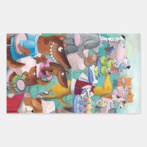 restaurant, artsprojekt, dog restaurant, illustration dogs, dog, bone, pet, animal, dog meal, children illustration, cartoon, dogs cafe, meal, kids illustration, dogs meal, dogs bowl, pets, pets restaurant, Sticker with custom graphic design