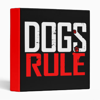 DOGS RULE BINDER