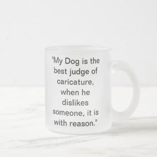 Dogs Rule Frosted Glass Coffee Mug