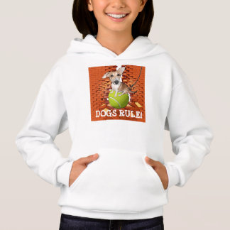 Dogs Rule Girls Hoodie