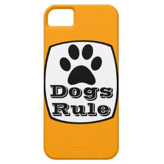 Dogs Rule Paw Print Orange iPhone 5 Case