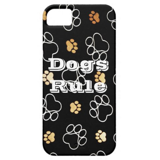 Dogs Rule Paw Prints Gifts for Dog Lovers iPhone 5 Cover