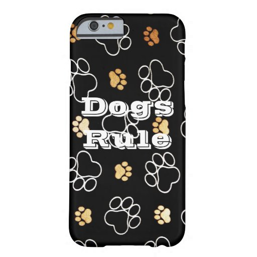 Dogs Rule Paw Prints Gifts for Dog Lovers iPhone 6 Case
