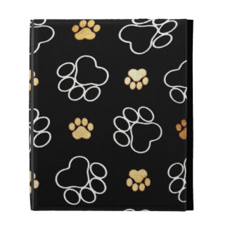 Dogs Rule Paw Prints Gifts for Dog Lovers iPad Folio Case