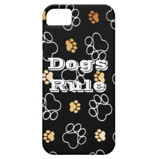 Dogs Rule Paw Prints Gifts for Dog Lovers iPhone SE/5/5s Case