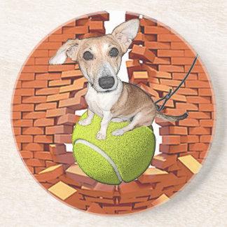 Dogs Rule Sandstone Coaster