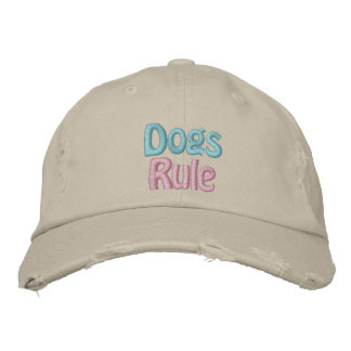 Dogs Rule, Save a Life, Adopt Rescue Shelter Dog Baseball Cap