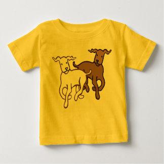 Dogs running tee shirt
